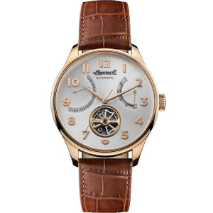 Ingersoll Men's The Hawley Automatic Silver Dial Leather Strap Watch I04603