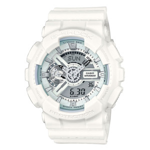 Casio G-Shock Men's Watch with White Dial Analogue And Digital Display GA-110LP-7AER
