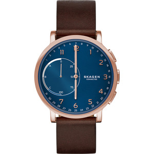 Skagen Connected Bluetooth Blue Dial Leather Strap Watch SKT1103