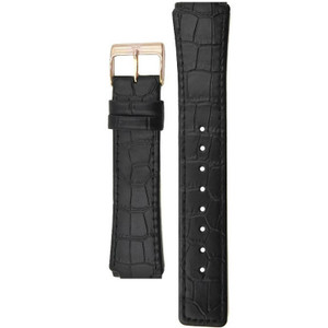 Skagen Replacement Black Leather Watch Strap 20mm For 331XLRLB