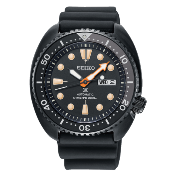 a8f9b138c95 Seiko Prospex Sea Mens Limited Edition Black Series Turtle Divers Watch  SRPC49K1