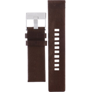 Genuine Brown Leather Replacement Strap For Diesel Watch DZ1512