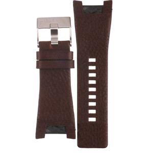 Diesel Replacement Watch Strap Brown Leather For DZ4246 With Free Pins