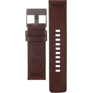 Genuine Brown Leather Replacement Strap For Diesel Watch DZ1612