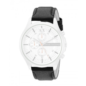 Armani Exchange Replacement Black Leather Strap 22mm For AX2165 With Free Pins