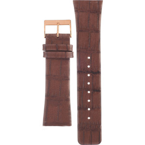 Skagen Replacement Brown Leather Watch Strap 25mm For 925XLRLD With Free Connecting Screw