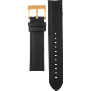 Mondaine Replacement Black Leather Strap 20mm FE24620.20R.1 With Free Pins
