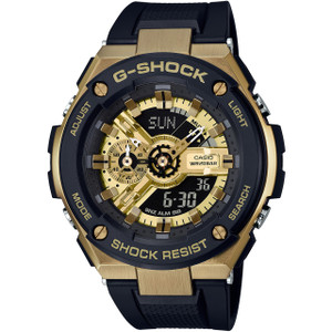 G-Shock G-Steel Black And Gold Watch GST-400G-1A9ER