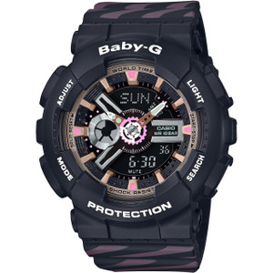 Casio Baby-G Analogue And Digital Black Watch BA-110CH-1AER
