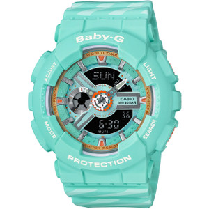 Casio Baby-G Analog And Digital Green Watch BA-110CH-3AER
