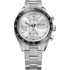 Louis Erard Men's Heritage Chronograph Automatic Silver Dial Bracelet Watch 78109AA01