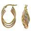 Fine Jewellery 9ct Multi-Colour Triple Oval Hoop Earrings 4109511