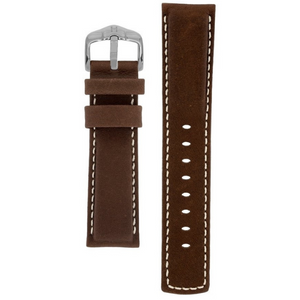 Hirsch Mariner Water Resistant Performance Replacement Watch Strap Brown Leather