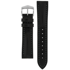 Hirsch Lucca Tuscan Performance Replacement Watch Strap Black Leather