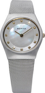 Bering Silver Mother of Pearl Dial Ladies Watch 11927-004