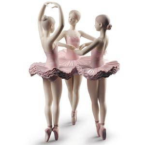 Lladro Porcelain Our Ballet Pose Dancers Figurine 01009286