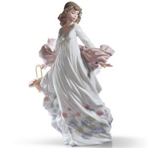 Lladro Porcelain Spring Splendor Woman Figurine 01005898