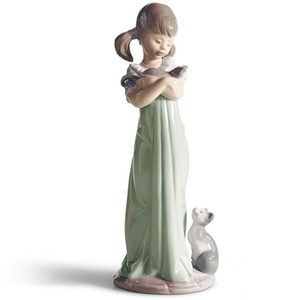 Lladro Porcelain Don't Forget Me Girl Figurine 01005743