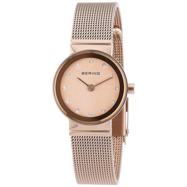 25f4d71fe2f Bering Rose Gold Mesh Ladies Watch 10122-366. ◅ ZOOM