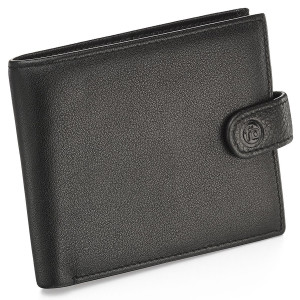 Fred Bennett Men's Black Leather Wallet With Coin Purse W014