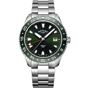 Rotary Men's Henley Quartz Green Dial Stainless-Steel Bracelet Watch GB05108/24