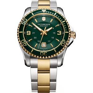 Victorinox Swiss Army Maverick Green Dial Stainless-Steel Bracelet Watch 241605