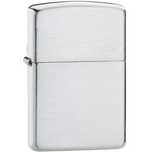 Zippo Plain Brushed Sterling Silver Windproof Lighter 13
