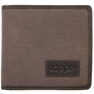 Zippo Brown & Mocha Canvas And Leather Trim Wallet 2005120