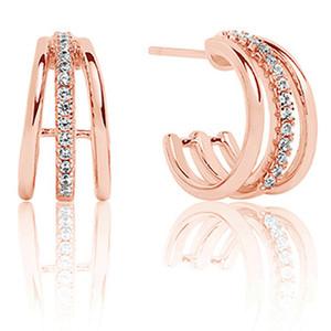Sif Jakobs Ozieri Piccolo 18k Rose Gold Plated Cubic Zirconia Earrings SJ-E0300-CZ(RG)