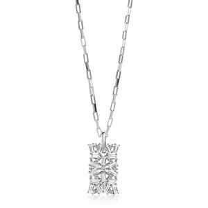 Sif Jakobs Antella Sterling Silver Cubic Zirconia Necklace SJ-P0058-CZ/45