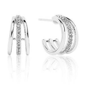 Sif Jakobs Ozieri Piccolo Sterling Silver Cubic Zirconia Earrings SJ-E0300-CZ