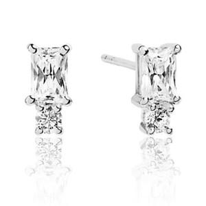 Sif Jakobs Antella Piccolo Silver Cubic Zirconia Double Stud Earrings SJ-E1299-CZ