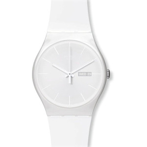 Swatch New Gent Collection White Rebel Day Date Watch SUOW701
