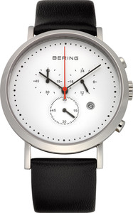 Bering White Multidial Leather Mens Watch 10540-404