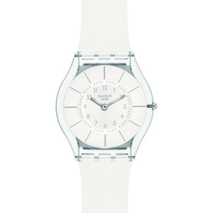 Swatch Skin Collection White Classiness Slim Watch SFK360
