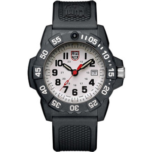 Luminox Navy Seal 3500 Series White Dial Carbon Case Strap Watch XS.3507