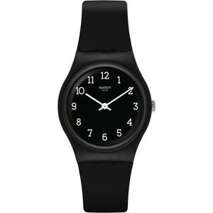 Swatch Blackway Unisex Quartz Black Dial Silicone Strap Watch GB301