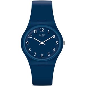 Swatch Blueway Unisex Quartz Blue Dial Silicone Strap Watch GN252