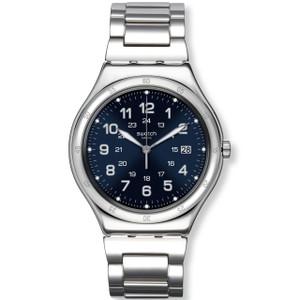 Swatch Irony Big Classic Blue Boat Blue Dial Bracelet Date Watch YWS420G