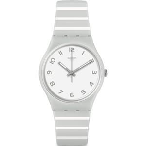 Swatch Mediterranean Views Grayure Unisex Quartz White Dial Silicone Strap Watch GM190
