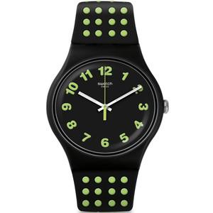 Swatch Vibe Punti Gialli Unisex Quartz Black Dial Silicone Strap Watch SUOB147
