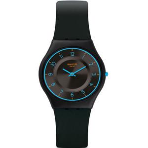 Swatch Skin Classic Troposphere Unisex Quartz Black Dial Silicone Strap Watch SFB147