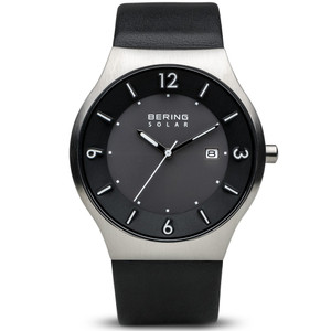 Bering Black Leather Mens Watch 14440-402