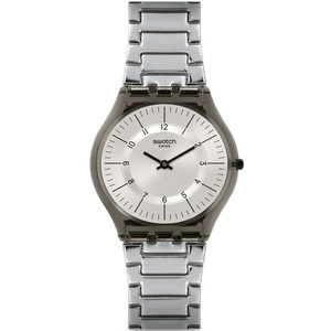 Swatch Skin Classic Metalmix Unisex Quartz Grey Dial Stainless-Steel Bracelet Watch SFM134G