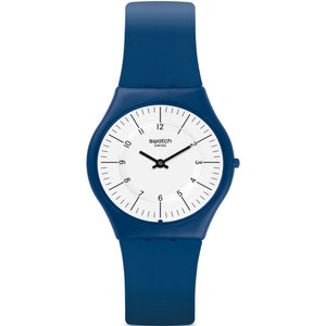 Swatch Skin Classic Marmarella Unisex Quartz White Dial Silicone strap Watch SFN124