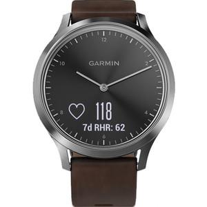 Garmin Vivomove Heart Rate Black Dial Brown Leather Strap Hybrid Smartwatch 010-01850-04