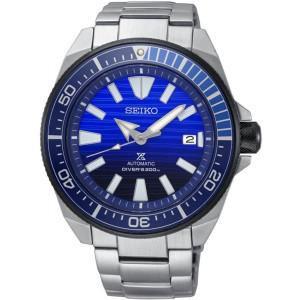Seiko Prospex Samurai Save The Ocean Automatic Diver's Blue Dial Bracelet Watch SRPC93K1