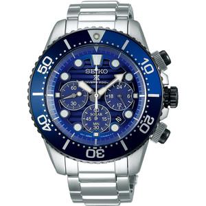 Seiko Prospex Men's Save The Ocean Solar Chronograph Diver's Stainless-Steel Bracelet Watch SSC675P1