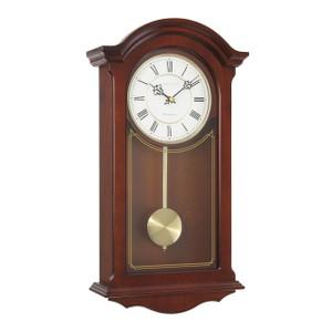 London Clock Traditional Mahogany Wood Finish Pendulum Wall Clock 25118