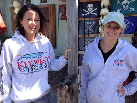 Key West Bait and Tackle hooded pullover and zip up sweatshirt